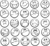 Kleurend boek van emotionele gezichten royalty-vrije illustratie