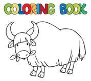 Kleurend boek van grappige wilde jakken Stock Foto