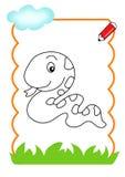 Kleurend boek van het hout, slang stock illustratie