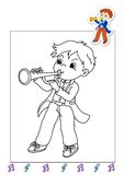 Kleurend boek van werkzaamheden 25 - musicus vector illustratie