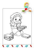 Kleurend boek van werkzaamheden 28 - schrijver Royalty-vrije Stock Afbeeldingen