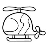 Kleurend boek voor jonge geitjes, Helikopter royalty-vrije illustratie