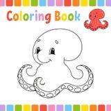 Kleurend boek voor jonge geitjes Vrolijk karakter Vector illustratie Leuke beeldverhaalstijl Fantasiepagina voor kinderen Zwarte  royalty-vrije illustratie