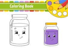 Kleurend boek voor jonge geitjes Vrolijk karakter Vector illustratie Leuke beeldverhaalstijl Getrokken hand Fantasiepagina voor k vector illustratie