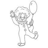 Kleurend boek voor kinderen: Halloween-karakters (clown) Stock Foto