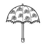 Kleurend boek voor kinderen, paraplu royalty-vrije illustratie