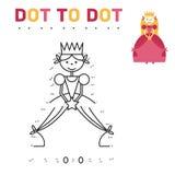 Kleurend boek voor meisjesprinses Het spel verbindt Stock Foto