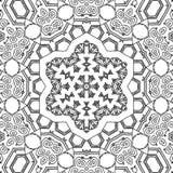 Kleurend de sterornament van paginamandala Royalty-vrije Stock Afbeelding