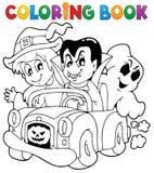 Kleurend karakter 8 van boekhalloween stock illustratie