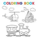 Kleurende Boek of Paginabeeldverhaal Vectorillustratie Stock Fotografie