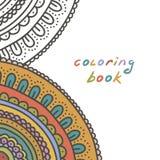 Kleurende boekdekking, vectorillustratie Stock Afbeeldingen