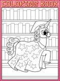 Kleurende boekpagina Paard van de astronomie het hoofdeenhoorn vector illustratie