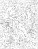 Kleurende boekpagina voor volwassene en jonge geitjes Royalty-vrije Stock Afbeeldingen