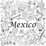 Kleurende het boek vectorillustratie van Mexico Stock Fotografie