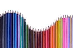 Kleurende houten potloden Royalty-vrije Stock Foto's