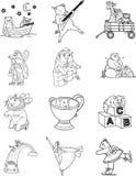 Kleurende Karakters 1 van het Boek royalty-vrije illustratie