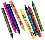 Kleurende kleurpotloden Royalty-vrije Stock Afbeeldingen