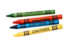 Kleurende kleurpotloden Stock Foto