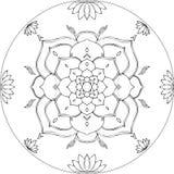 Kleurende Lotus Mandala Diksha Royalty-vrije Stock Afbeeldingen