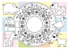 Kleurende pagina royalty-vrije illustratie