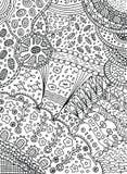 Kleurende pagina in krabbel abstracte stijl Vectorkunst voor volwassen col. royalty-vrije illustratie
