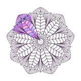 Kleurende Pagina met Mandala2 Royalty-vrije Stock Afbeelding