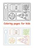 Kleurende pagina's voor jonge geitjes Royalty-vrije Stock Afbeeldingen