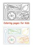 Kleurende pagina's voor jonge geitjes Stock Fotografie