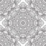 Kleurende pagina's voor volwassenen Decoratief hand getrokken sier de krul vector schetsmatig naadloos patroon van de krabbelaard Royalty-vrije Stock Fotografie