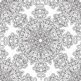 Kleurende pagina's voor volwassenen Decoratief hand getrokken sier de krul vector schetsmatig naadloos patroon van de krabbelaard Stock Afbeelding