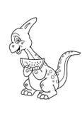 Kleurende pagina'sdinosaurus Stock Foto's