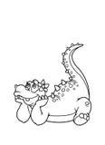 Kleurende pagina'sdinosaurus Stock Fotografie