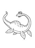 Kleurende pagina'sdinosaurus Royalty-vrije Stock Afbeeldingen