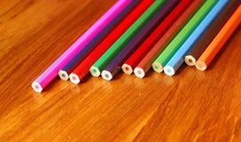 Kleurende potloden Royalty-vrije Stock Afbeeldingen