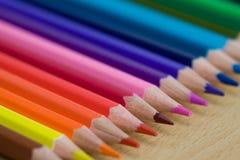 Kleurende potloden Stock Afbeeldingen