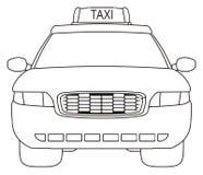 Kleurende taxiauto Royalty-vrije Stock Foto