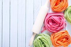 Kleurendeegwaren Stock Afbeeldingen