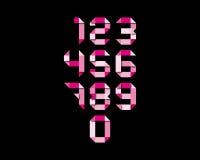 Kleurendocument aantallen Stock Afbeelding