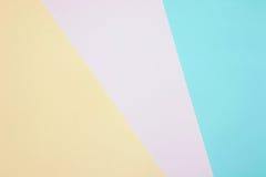 Kleurendocumenten achtergrond van de meetkunde de vlakke samenstelling Royalty-vrije Stock Foto