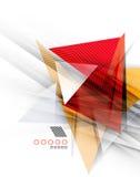 Kleurendriehoeken, ongebruikelijke abstracte achtergrond stock illustratie