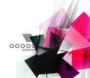 Kleurendriehoeken, ongebruikelijke abstracte achtergrond vector illustratie
