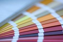 Kleurendruk van de compensatie van pantonestatistieken royalty-vrije stock afbeeldingen