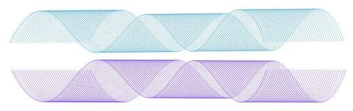 Kleurenelement - golven Stock Afbeelding