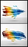 Kleurenelementen voor abstracte achtergrond stock illustratie