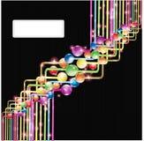 Kleurenetiket de glanzende achtergrond van de reclamebanner Stock Afbeeldingen