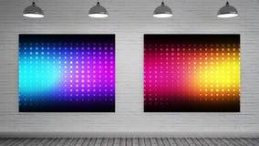 Kleurenexplosies op Canvas stock footage