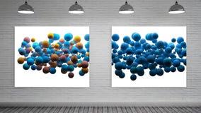 Kleurenexplosies op Canvas stock video