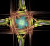 Kleurenfractal abstracte samenstelling op een zwarte achtergrond royalty-vrije stock afbeeldingen