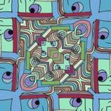 Kleurengezichten - abstracte grappige beeldverhaalachtergrond vector illustratie