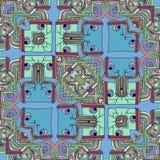 Kleurengezichten - abstracte grappige beeldverhaalachtergrond royalty-vrije illustratie